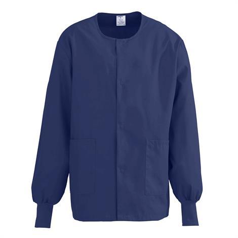ComfortEase Unisex Crew Neck Warm-Up Jacket - Midnight Blue,4X-Large,Each,8832JNT4XL-CM