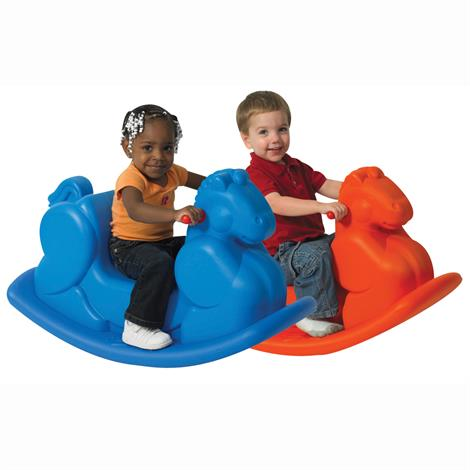 Childrens Factory Molded Rocking Horse,Blue Horse,Each,CF910-069