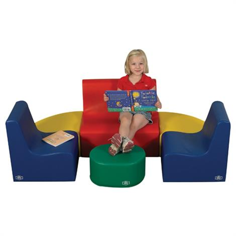 """Childrens Factory Medium Tot Primary 6 Piece Contour Seating,64"""" x 40"""" x 20"""",Each,CF705-557"""