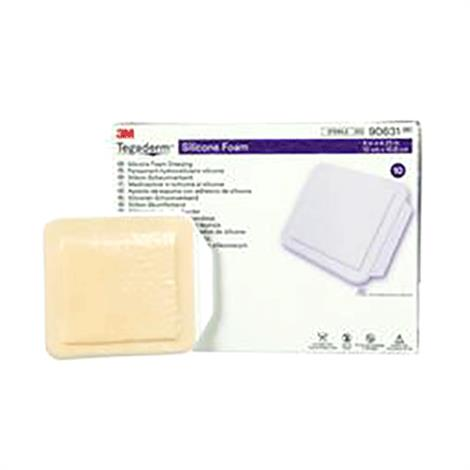 """3M Tegaderm Silicone Foam Non-Bordered Dressing,4"""" x 4.25"""",10/Pack,90631"""