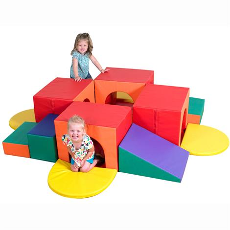 "Childrens Factory Tunnel Labyrinth,95"" x 95"" x 18"",Each,CF331-507"