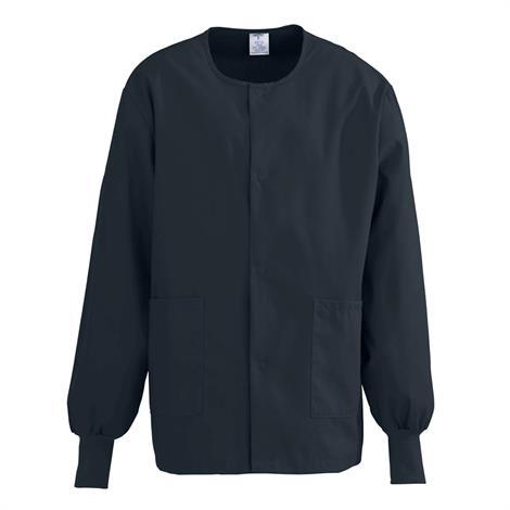 Medline ComfortEase Unisex Crew Neck Warm-Up Jacket - Black,3X-Large,Each,8832DKWXXXL
