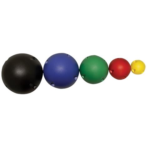 CanDo MVP Balance System Ball,2 Each (Yellow,Red,Green,Blue,Black) Balls,10/Pack,#10-1766