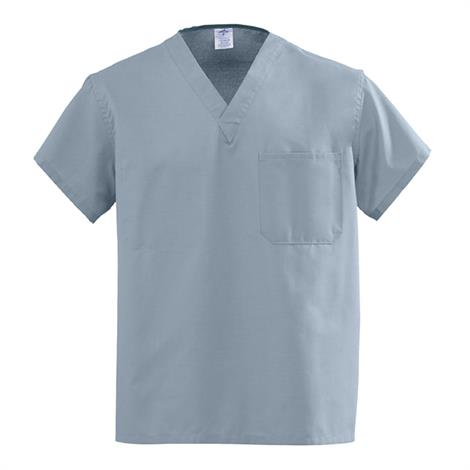 Medline AngelStat Unisex Reversible V-Neck Scrub Tops - Misty Green,XX-Large,Each,M610NTZXXL-CM
