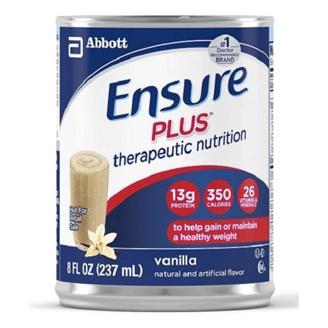 Abbott Ensure Plus Therapeutic Complete Balanced,Butter Pecan Institutional,8fl oz (237ml),Can,24/Case,64909
