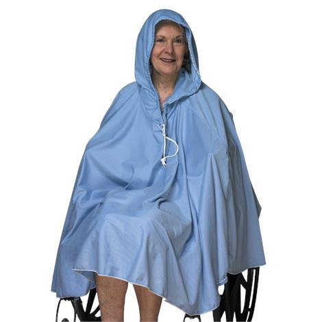 Skil-Care Soft Comfortable Shower Poncho,Long Back Wihout Hood,Each,909130
