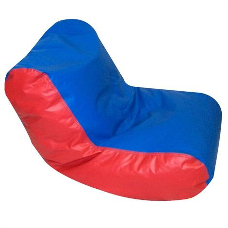 Childrens Factory Preschool High Back Lounger,Blue And Red,Each,Cf610-069