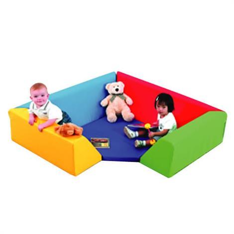 "Childrens Factory Cozy Corner Seating,54"" x 54"" x 13"",Each,CF322-116"