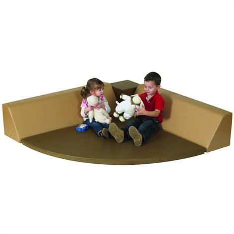 "Childrens Factory Cozy Woodland Corner Seating,54"" x 54"" x 13"",Each,CF710-122"