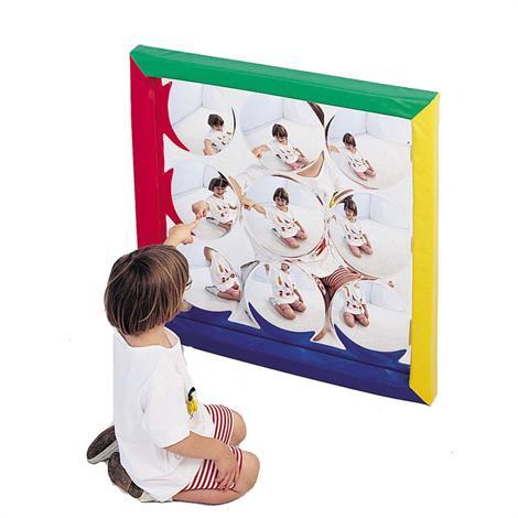 Childrens Factory Soft Frame Bubble Mirror,34 x 34 x 1.5,Concave Mirror,Each,CF332-144