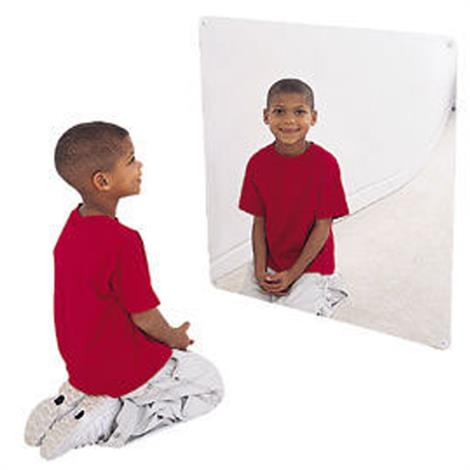 "Childrens Factory Square Mirror,24"" x 24"",Each,CF332-131"
