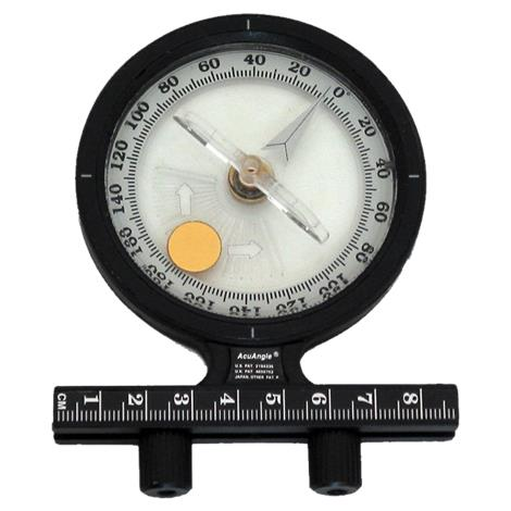 """Baseline AcuAngle Adjustable Feet Inclinometer,4"""" x 1"""" x 4"""",2/Pack,#12-1149-2"""