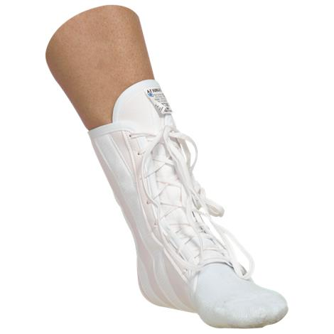 "AT Surgical Lace Up Canvas Ankle Brace,Large,10"" to 11"",Each,#388"