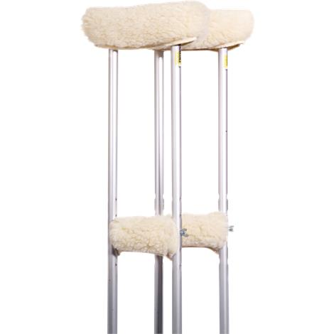 Essential Medical Sheepette Synthetic Lambskin Arm And Grip Crutch Covers Set,Crutch Covers Set,Each,D5009