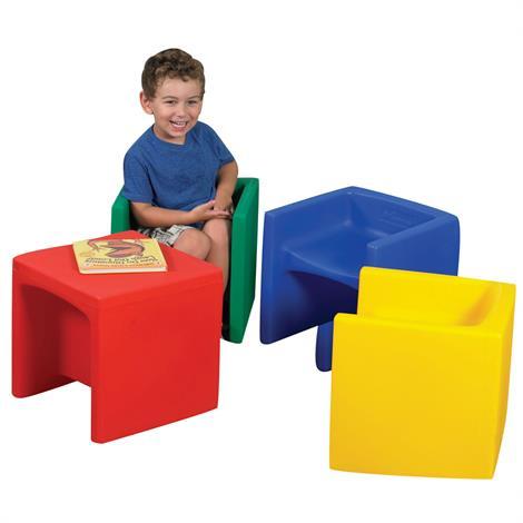 "Childrens Factory Cube Chair Set,Set of 4,15"" x 15"" x 15"",Each,CF910-007"