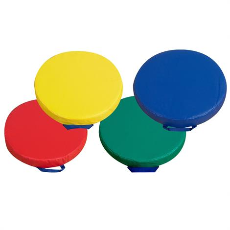 Childrens Factory 15 Inch Primary Floor Cushion Set,Round Cushions,Set of 4,Each,CF321-165