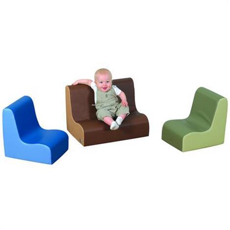 """Childrens Factory Little Tot 3 Piece Contour Set,Woodland Colors,54"""" x 27"""" x 15"""",Each,CF705-443"""