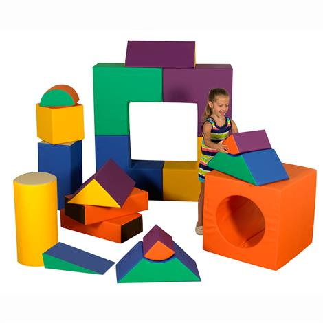 Childrens Factory 18 Piece Jumbo Block Set,18 Piece Set,Each,CF805-016