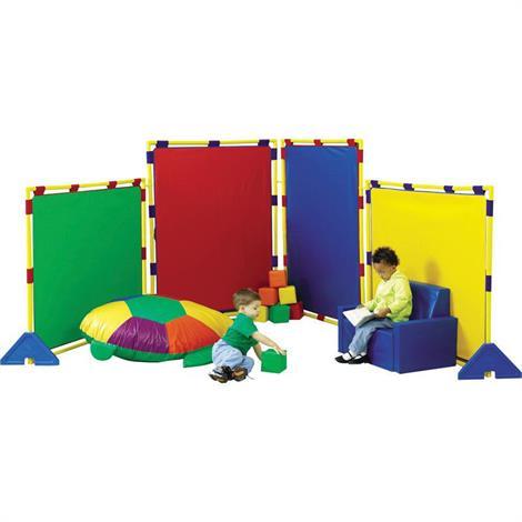 "Childrens Factory Big Screen Rainbow PlayPanel Set,59.5"" x 47.5"",Each,CF900-520"