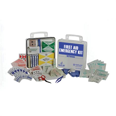 """Complete Medical 50 Person First Aid Emergency Kit,Plastic Box,9"""" x 9"""" x 2.5"""",Each,BJ170115"""