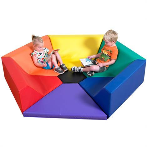 """Childrens Factory Hexagon Happening Hollow Seating,75"""" x 65"""" x 13.75"""",Each,CF321-910"""