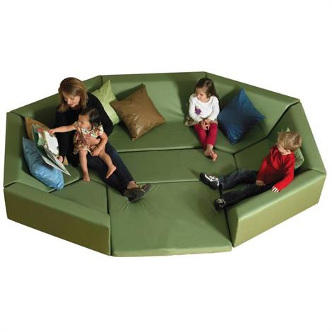 """Childrens Factory Octagonal Welcoming Hollow Seating,106"""" x 77"""" x 13.5"""",Each,CF710-123"""