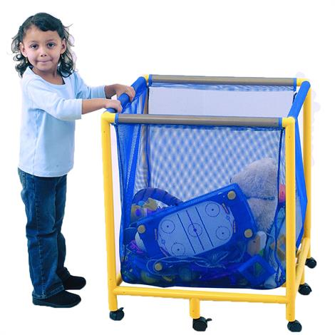 """Childrens Factory Mobile Equipment Toy Box,Square,25"""" x 25"""" x 29"""",Each,CF905-064"""