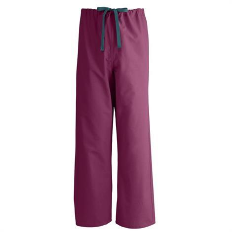 Medline Angelstat Unisex Reversible Drawstring Scrub Pants- Raspberry,3X-Large,Each,600Ntrxxxl-Cm
