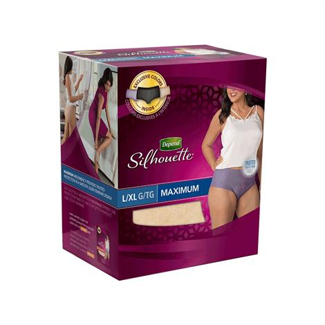 Depend Silhouette Incontinence Briefs For Women - Maximum Absorbency,Small,32/Case,51413