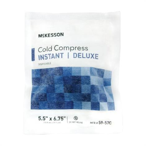 """McKesson Deluxe Cold Pack Soft Disposable Cloth,5.5"""" x 6.75"""",Small,24/Case,59-57C"""