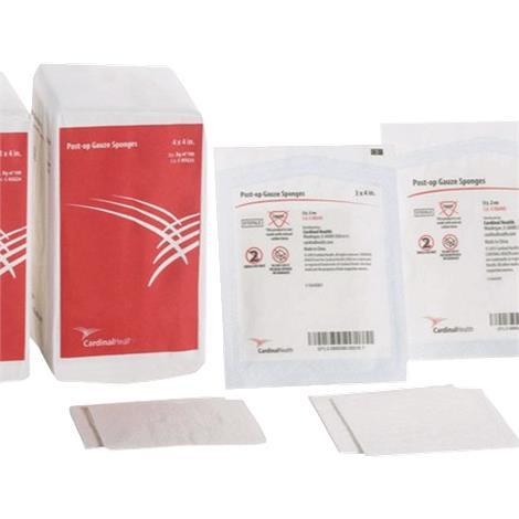 """Cardinal Health Sterile Post-Op Gauze Sponges,4"""" x 4"""",12-Ply,2s,25/Pack,24Pk/Case,C-SG44S"""