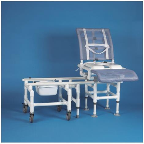 Duralife DuraGlide Reclining Bath And Commode Transfer System With Seat,Beige - Mesh,Each,DLF-347
