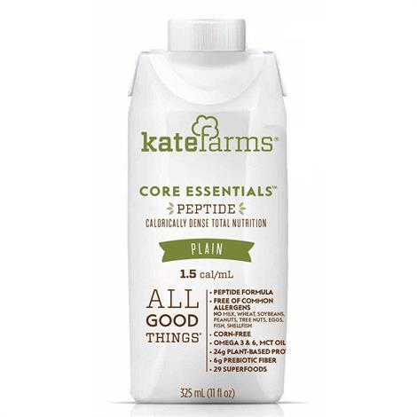 Kate Farms Core Essentials Peptide 1.5 Al Formula,325Ml,Each,852000000000