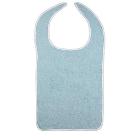 "Becks Classic Reusable Terry Adult Bib,Blue,18"" X 34"",12/Pack,BTB1834"