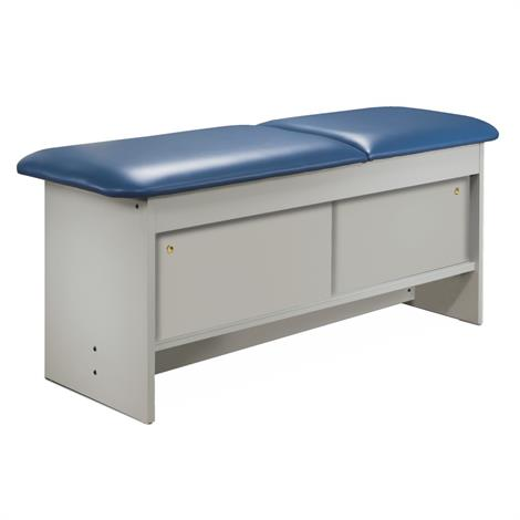 Clinton Cabinet Style Laminate Treatment Table with Four Sliding Doors