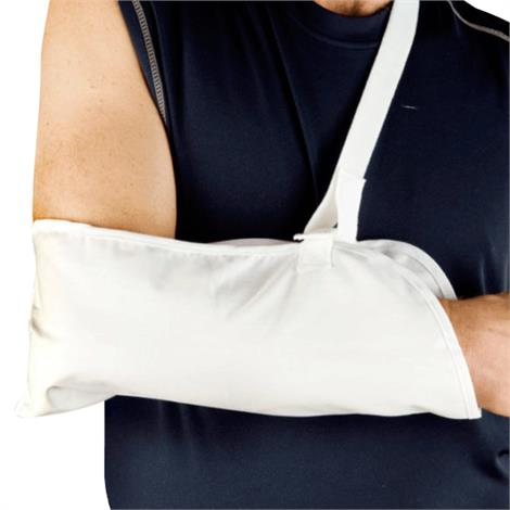 AT Surgical Arm Sling Support With Immobilizer Strap And Velcro Closure,Blue,Each,3101
