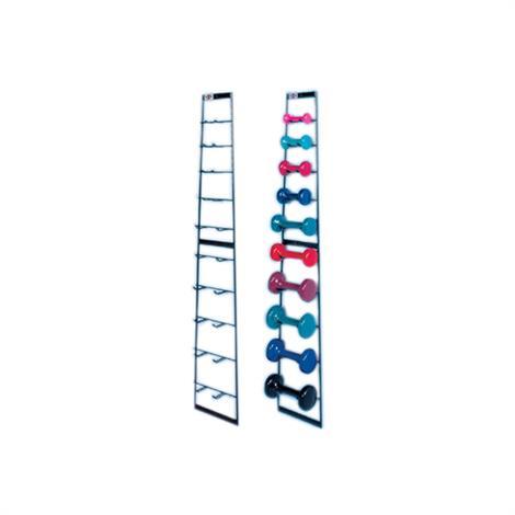 Hausmann Economy Wall Dumbbell Rack,Accessorized Dumbbell Rack,Each,5555-100