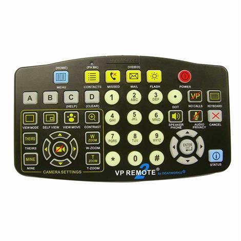"""Vp Remote Big Button Videophone Remote Control,4.75"""" (L) X 8.25"""" (W) X 1.0"""" (D),Each,Vpr200"""