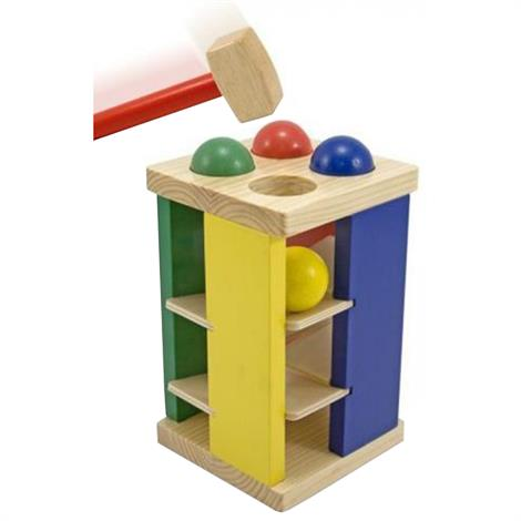Melissa & Doug Pound And Roll Tower,10 x 5.5 x 5.5 (Assembled),Each,3559