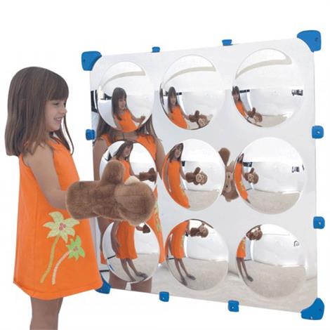 "Childrens Factory 9 Bubble Maxi Mirror,32"" x 32"",Each,CF332-524"