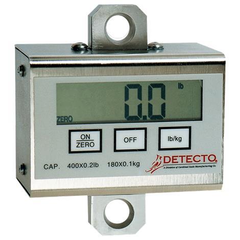 Detecto Digital Patient Lift Scales,Weight Capacity: 400lbs x .2lb (180kg x .1kg),Each,PL400