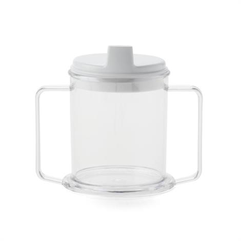 Medline Two Handled Cups,Clear Cup,Spouted Lid,Each,MDSR001159
