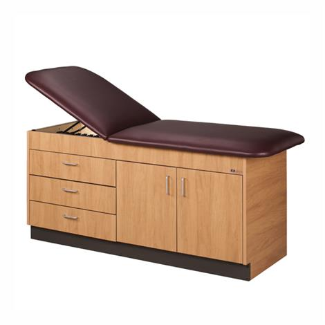 Clinton Cabinet Style Laminate Treatment Table with Doors and Drawers