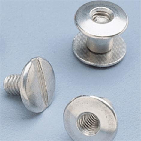 "Aluminum 6.4mm Screws and Posts For Hinged Splints,Aluminum,Shaft Length 1/4"" (6.4mm),100/Pack,NC12732"
