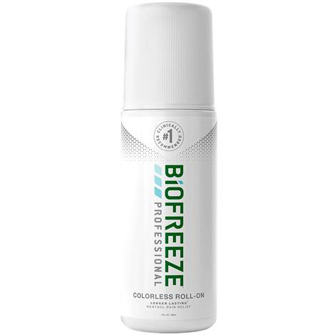 Biofreeze Professional Pain Relieving Roll-On,3 oz. Colorless,144/Case,13419