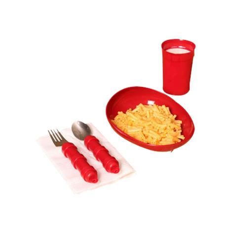 Maddak Redware Tableware Set,Basic,Each,F745380000