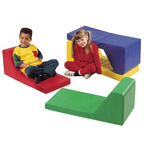 """Childrens Factory Preschool Loungers Set,Set of 4,34"""" x 15"""" x 14"""",Each,CF349-009"""