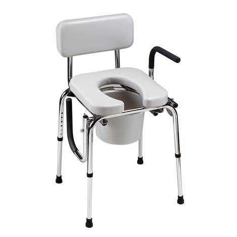 Homecraft Drop-Arm Commode with Padded Seat,Drop-Arm Commode with Padded Seat,Each,81611102