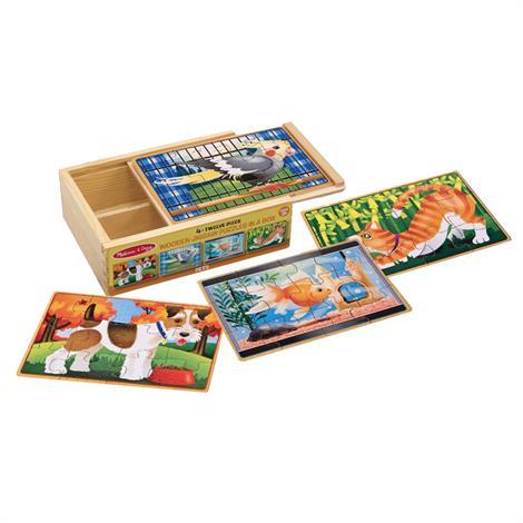 Melissa & Doug Jigsaw Puzzles In A Box,2.5 x 6 x 8,Each,3790