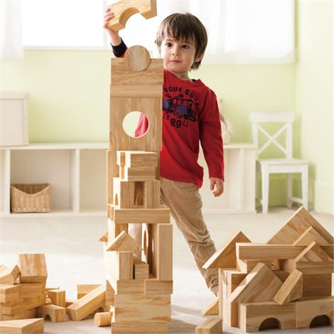 Weplay Softwood Block - 152 Pcs,152 Pieces Set,Each,KC2102